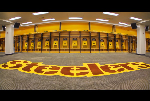 Steelers locker room