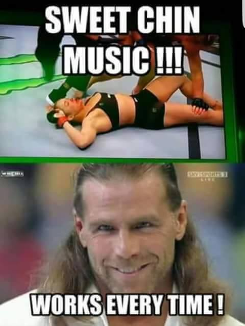 Sweet chin music meme