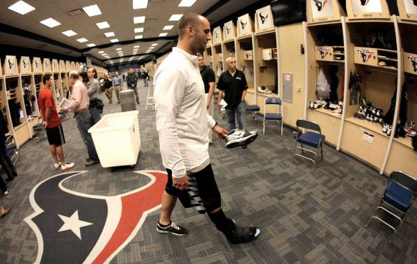 Texans locker room