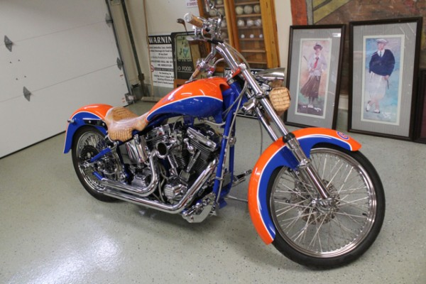 Tim Tebow Autographed Florida Gators NCAA Championship Custom Motorcycle