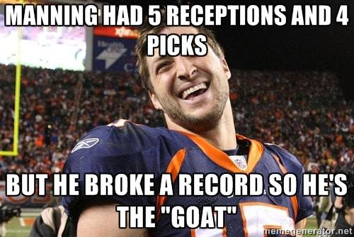 Tim Tebow laughing