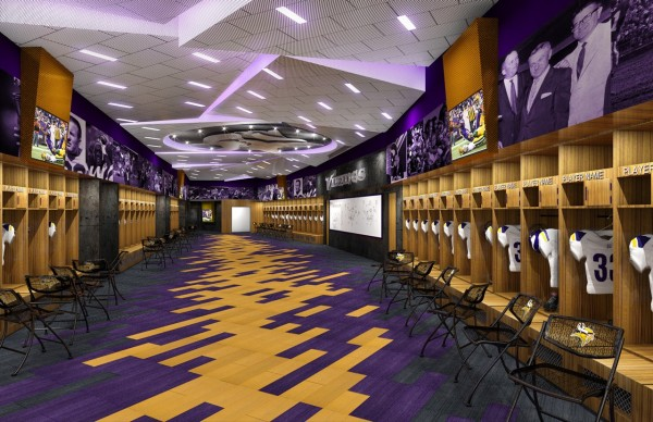 Vikings locker room