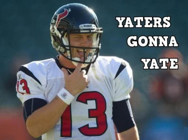 Yaters gonna yate