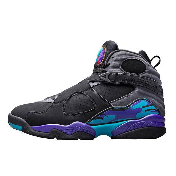 Youth Air Jordan Concord 8 Retro Aqua Basketball Shoe