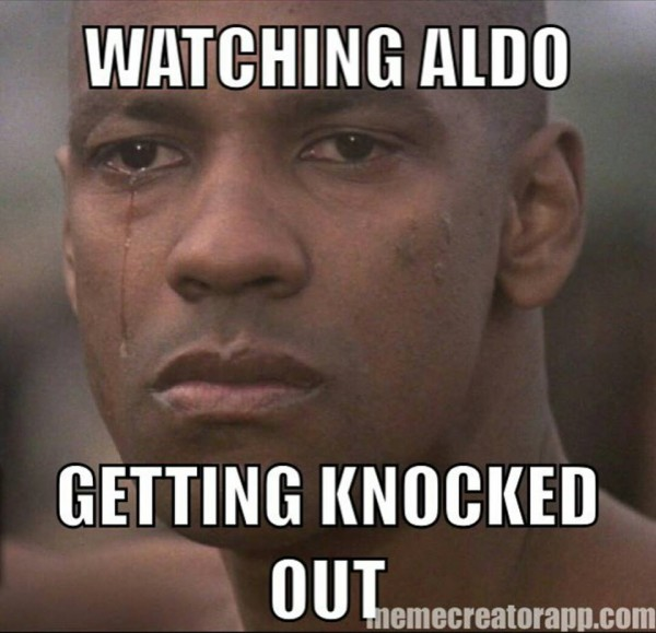 Aldo fans crying