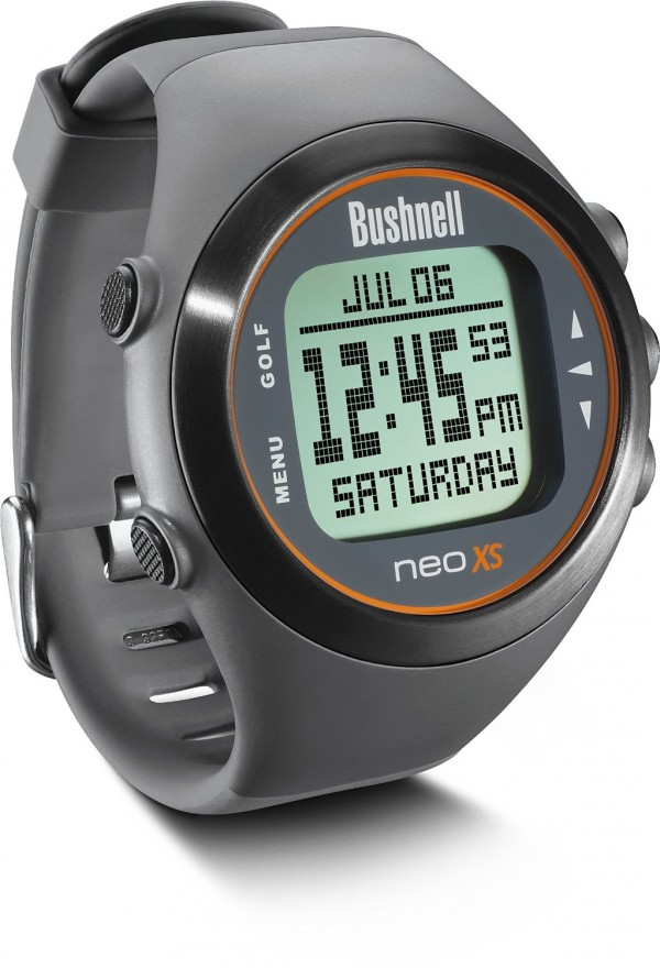 Bushnell Neo XS GPS Golf Watch Charcoal Orange