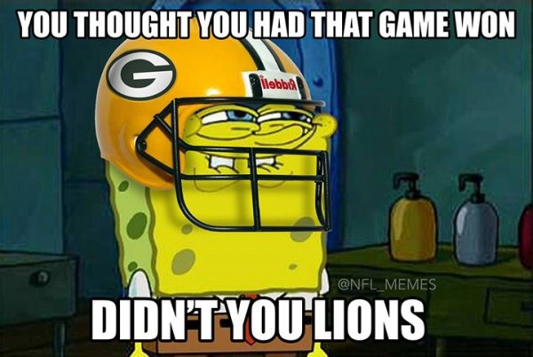Didn't you Lions meme