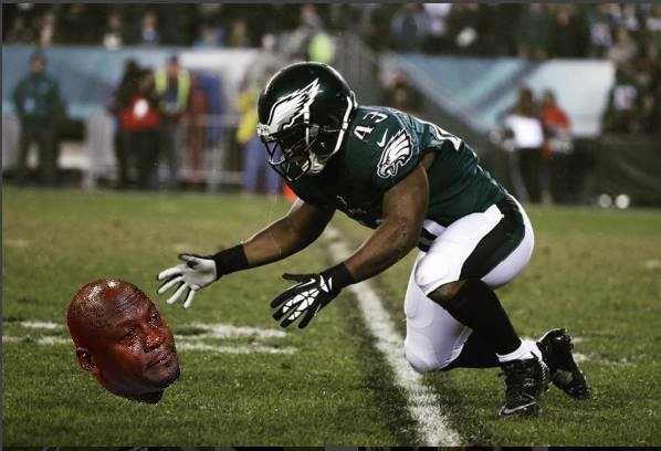 Eagles sad Fumble