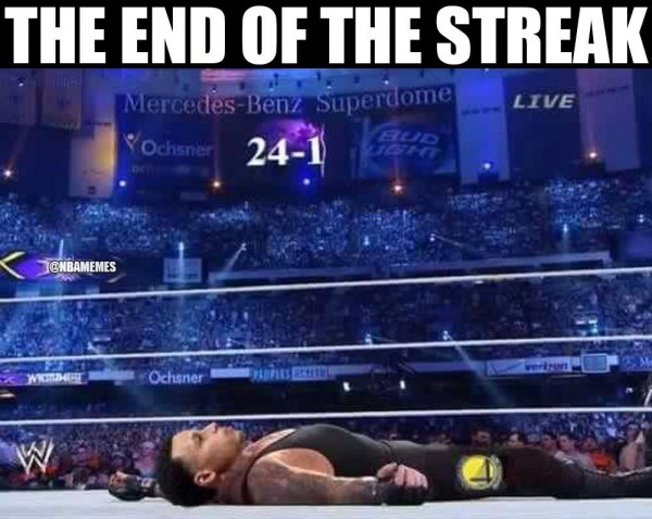 End of the Streak