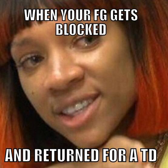 FG gets blocked for a TD