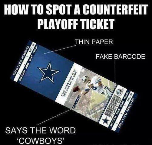 Fake Playoff ticket