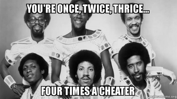 Four times a cheater