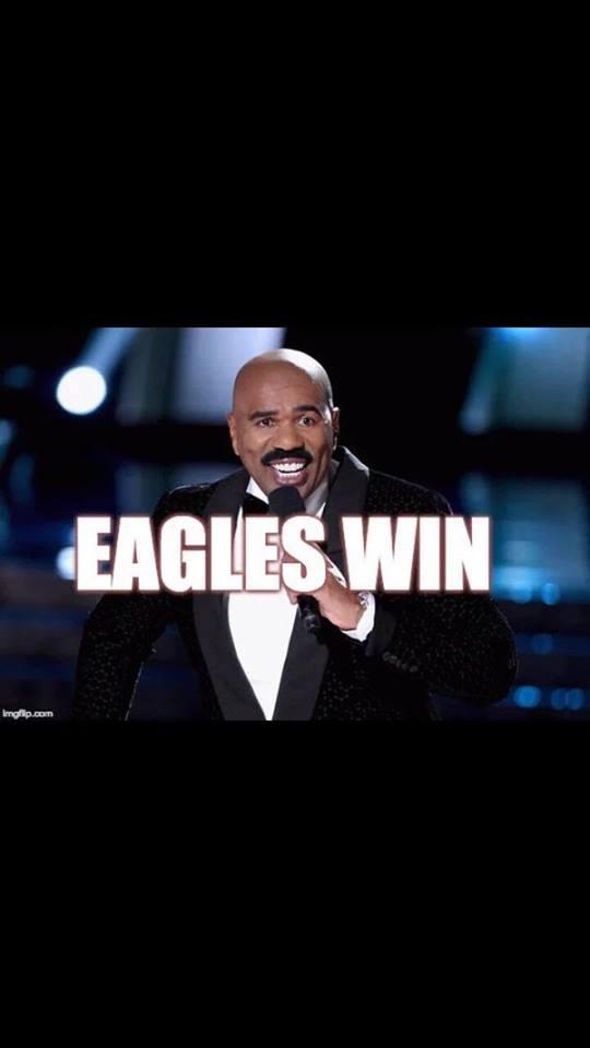 Harvey said Eagles win