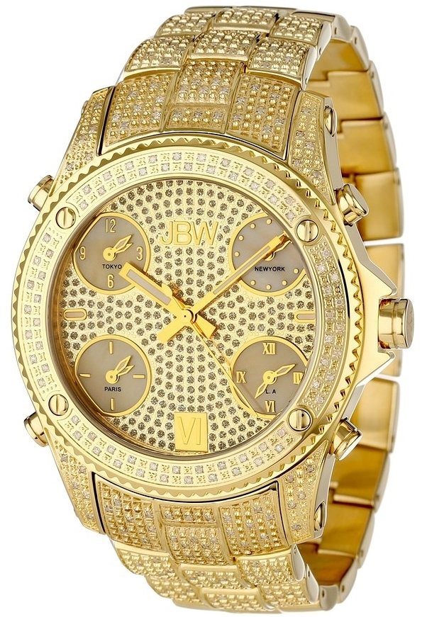 JBW Jet Setter Gold Diamond Watch