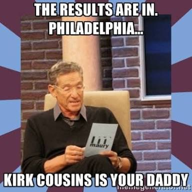 Kirk Cousins is their daddy