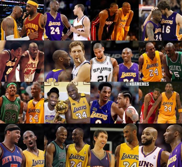 Kobe with everyone
