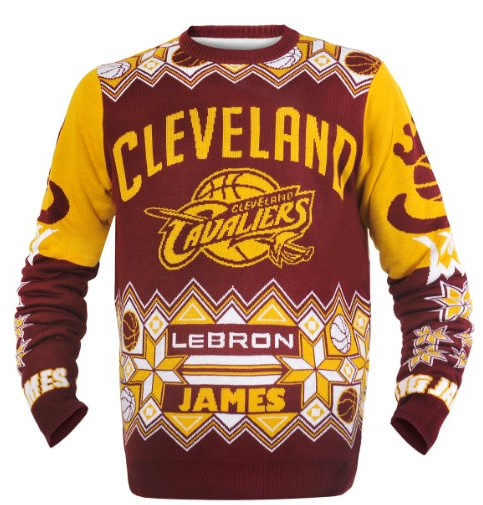 LeBron James & Cleveland Cavaliers Ugly Christmas Sweater
