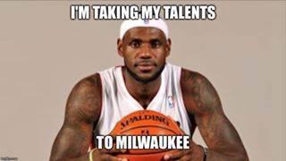LeBron going to Milwaukee