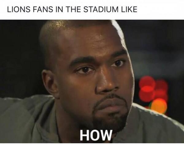 Lions fan in the stadium