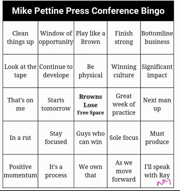 Mike Pettiene Bingo