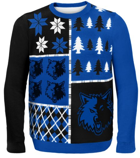 Minnesota Timberwolves ugly Christmas Sweater