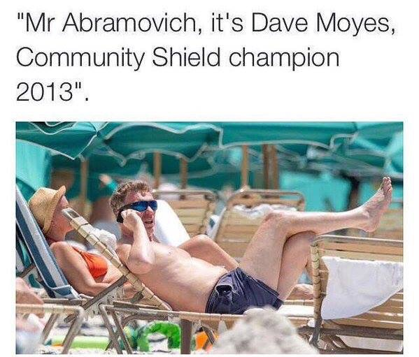 Moyes calling Abramovich