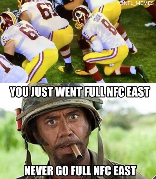 Never go full NFC East
