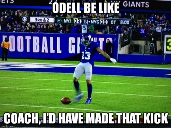 Odell would have made it