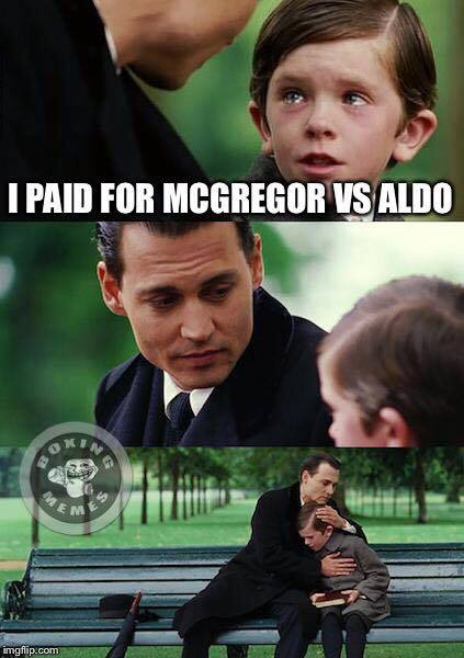 Paid for McGregor vs Aldo