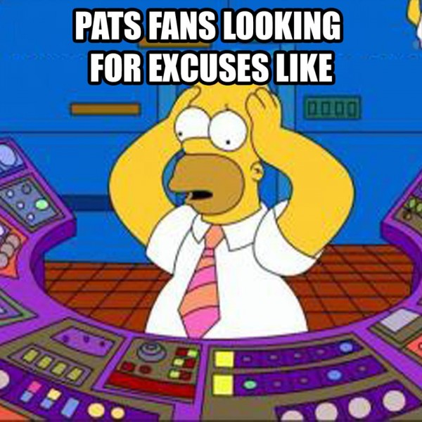 Pats fans excuses
