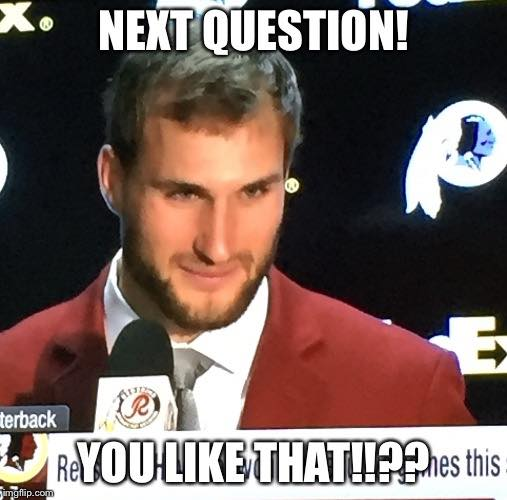 Questions to Kirk Cousins
