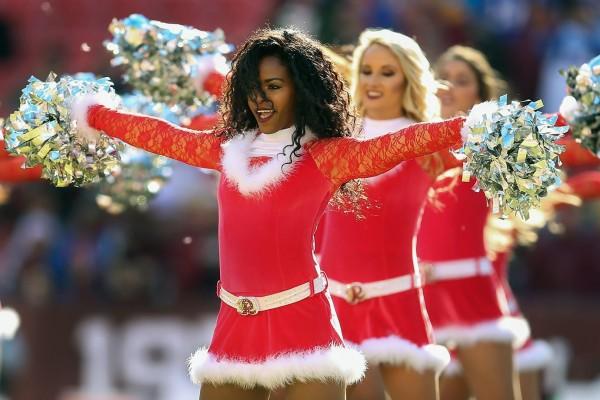 Redskins cheerleader