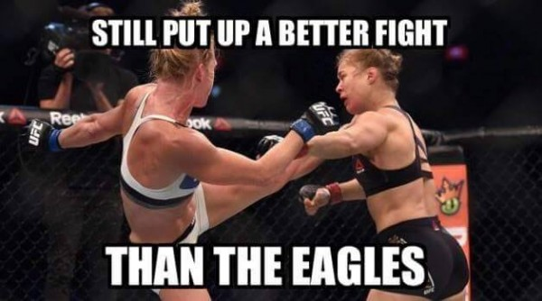 Rousey better than Eagles