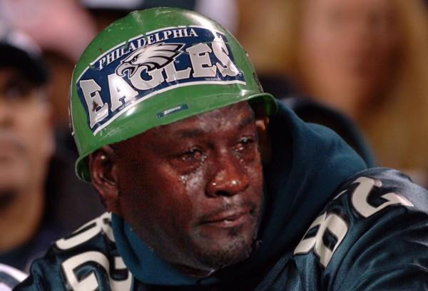 Sad Eagles fan