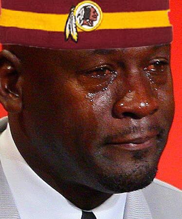 Sad Redskins fan