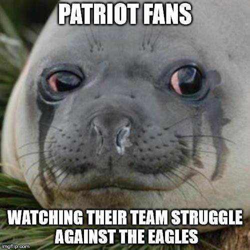 Sad Seal Patriots fans