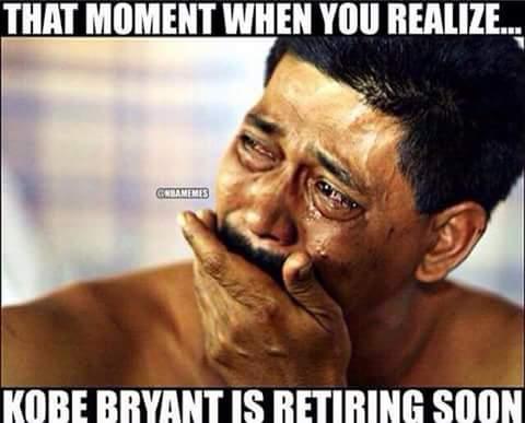 Sad about Kobe retiring