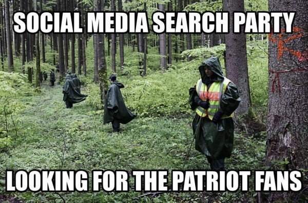 Searching for Patriots fans