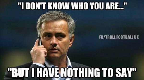 Speechless Mourinho