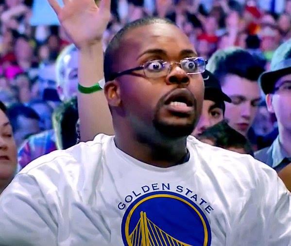 Stunned Warriors fan