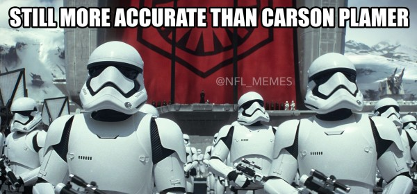 Carson Palmer Stormtroopers joke
