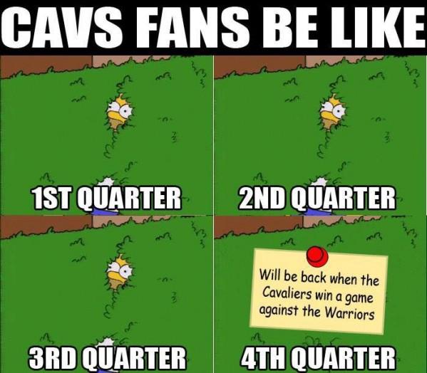 Cavs fans be like