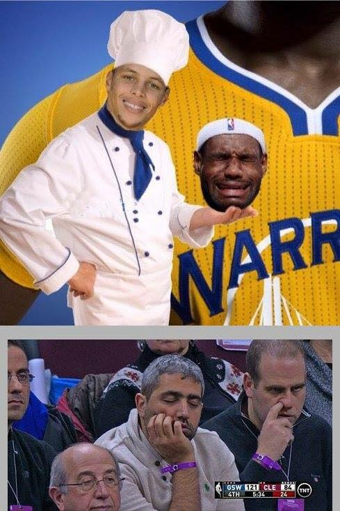Chef Curry Crying James