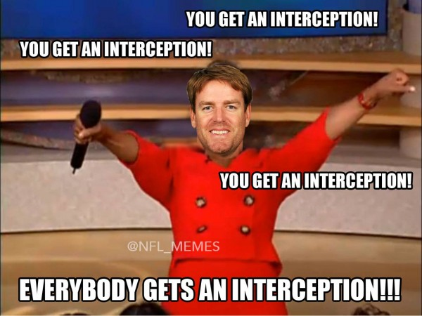 Everybody gets an interceptions
