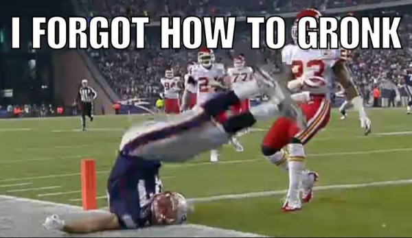 Forgot how to Gronk