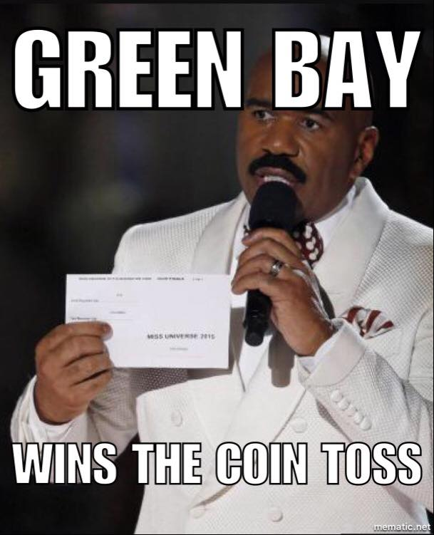 Green Bay wins the coin toss