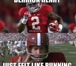 Henry felt like running
