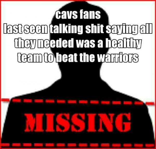 Missing Cavs Fans