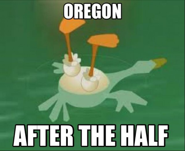 Oregon in the Second Half
