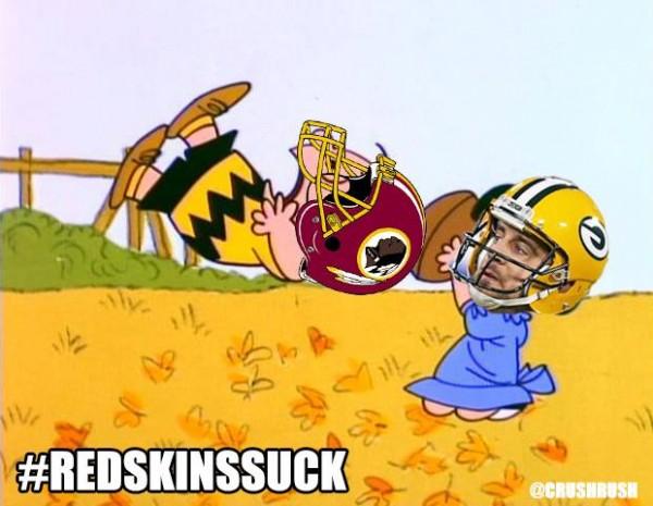 Packers Redskins Charlie Brown